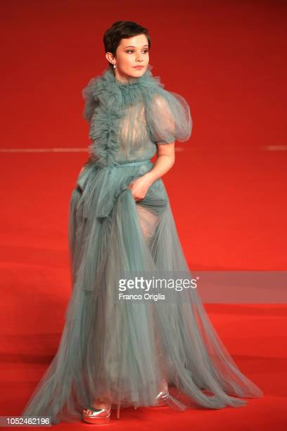 Cailee Spaeny walks the red carpet ahead of the Bad Times At The El Royale screening during the 13th Rome Film Fest at Auditorium Parco Della Musica...