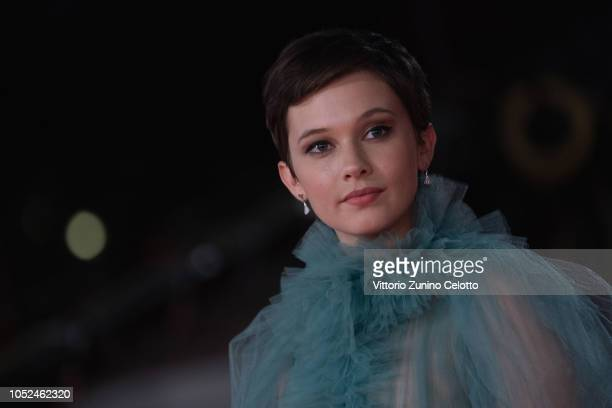 Cailee Spaeny walks the red carpet ahead of the 'Bad Times At The El Royale ' screening during the 13th Rome Film Fest at Auditorium Parco Della...