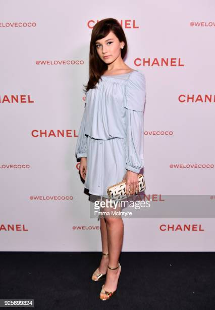 Cailee Spaeny wearing Chanel attends a Chanel Party to celebrate the Chanel Beauty House and @WELOVECOCO at Chanel Beauty House on February 28 2018...