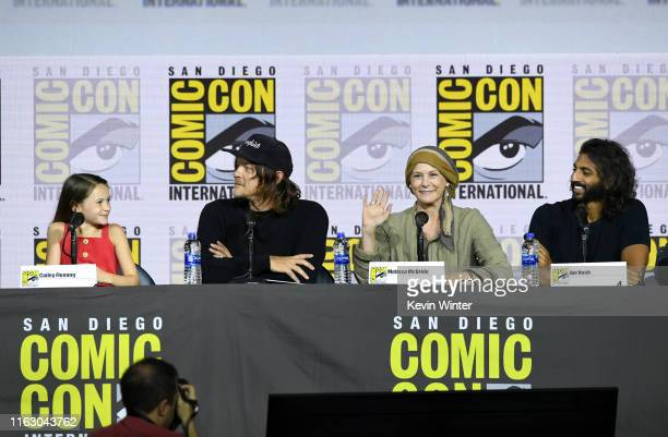Cailey Fleming Norman Reedus Melissa McBride and Avi Nash speak at The Walking Dead Panel during 2019 ComicCon International at San Diego Convention...