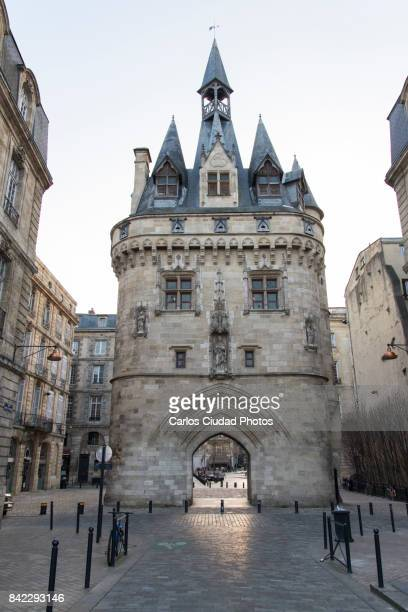 Cailhau Gate in the old town of Bordeaux, France