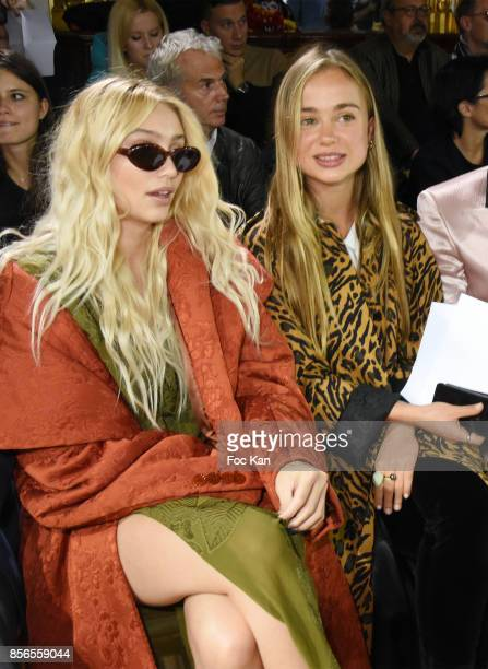Cailin Russo and Lady Amelia Windsor attend the John Galliano show as part of the Paris Fashion Week Womenswear Spring/Summer 2018 on October 1 2017...