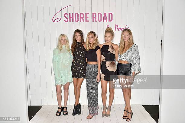 Cailin Russo Kate Watson Brianna Barnes Kate Barker and Shannon Barker attend the 6 Shore Road by Pooja Resort 2016 collection during FUNKSHION...