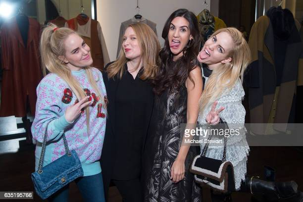 Cailli Beckerman Emily Smith Natalie Zfat and Sam Beckerman attend the Lafayette 148 New York fashion week party on February 13 2017 in New York City