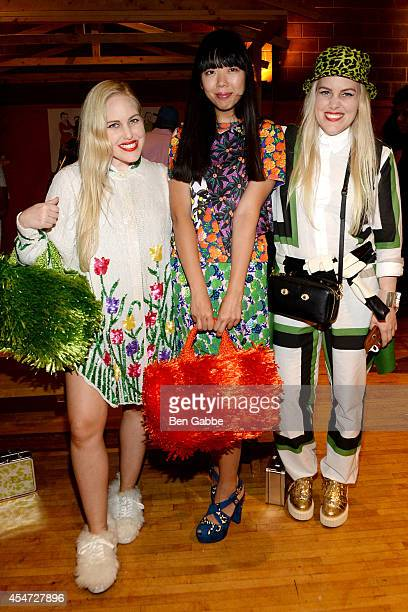 Cailli Beckerman Susie Lau and Sam Beckerman attend the William Okpo Fashion Show during MercedesBenz Fashion Week Spring 2015 at Old School Gym on...