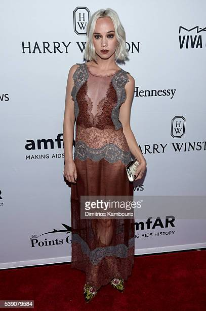 Cailtin Moe attends the 7th Annual amfAR Inspiration Gala at Skylight at Moynihan Station on June 9 2016 in New York City