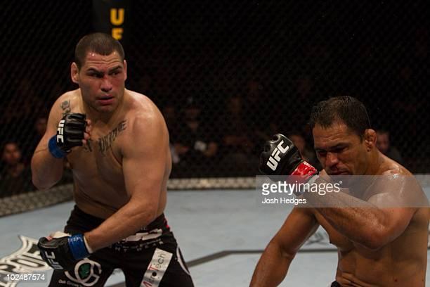 Cain Velasquez def Antonio Rodrigo 'Minotauro' Nogueira TKO 220 round 1 during UFC 110 at Acer Arena on February 20 2010 in Sydney Australia