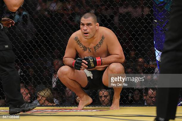 Cain Velasquez prepares to fight Travis Browne during the UFC 200 event at TMobile Arena on July 9 2016 in Las Vegas Nevada