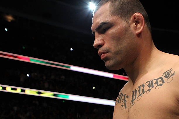 Cain Velasquez runs into the Octagon to take on Brock...