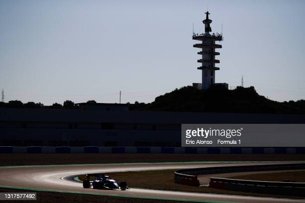 Caio Collet of Brazil and MP Motorsport drives at Circuito de Jerez on May 12, 2021 in Jerez de la Frontera, Spain.