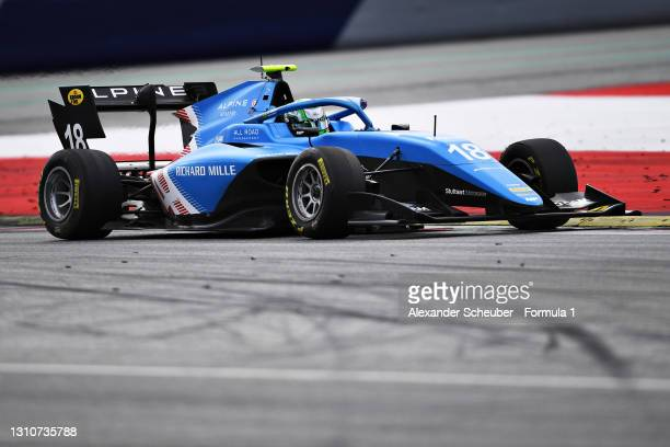Caio Collet of Brazil and MP Motorsport drives during Day Two of Formula 3 Testing at Red Bull Ring on April 04, 2021 in Spielberg, Austria.