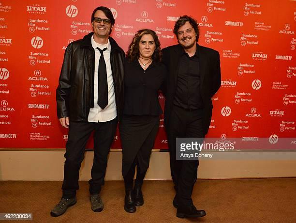 Caio Gullane Anna Muylaert and Fabiano Gullane attend 'The Second Mother' Premiere 2015 Sundance Film Festival during the 2015 Sundance Film Festival...