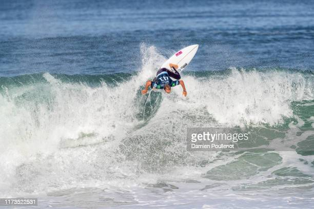 Caio Ibelli of Brazil will surf in Round 2 of the 2019 Quiksilver Pro France after placing third in Heat 2 of Round 1 at Le Culs Nus on October 3...