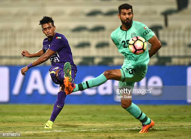 Caio Lucas of Al Ain in action during the Arabian Gulf Cup match between Al Shabab and Al Ain at Al Maktoum Stadium on October 10 2016 in Dubai...