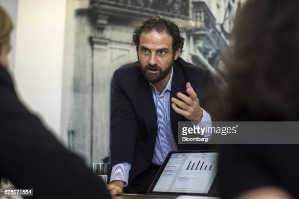 Caio Megale economist with Itau Unibanco SA speaks during an interview in Sao Paulo Brazil on Thursday Nov 16 2017 Brazil's economy started growing...