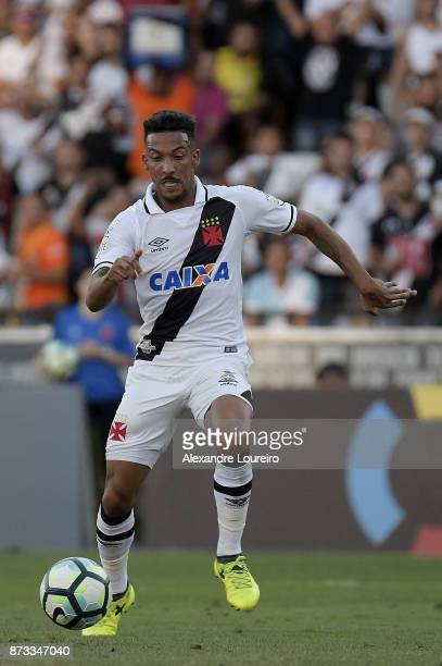 Caio Monteiro of Vasco da Gama kicks to scored their first scored goal during the match between Vasco da Gama and Sao Paulo as part of Brasileirao...