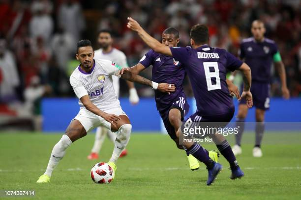 Caio of Al Ain controls the ball during the FIFA Club World Cup UAE 2018 Semi Final Match between River Plate and Al Ain at Hazza Bin Zayed Stadium...