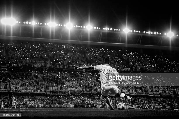 Caio of Al Ain in action during the FIFA Club World Cup UAE 2018 Semi Final between River Plate and Al Ain on December 18 2018 in Al Ain United Arab...