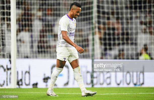 Caio of Al Ain looks dejected as he hits the post with a shot during the FIFA Club World Cup first round play-off match between Al Ain FC and Team...