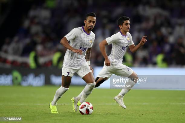 Caio of Al Ain runs with the ball during the FIFA Club World Cup UAE 2018 Semi Final Match between River Plate and Al Ain at Hazza Bin Zayed Stadium...