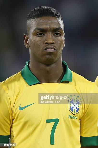 Caio of Brazil during the Group A FIFA U17 World Cup match between Honduras and Brazil at Ras Al Khaimah Stadium on October 23 2013 in Ras al Khaimah...
