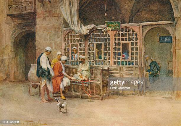 A Cairene Café' c1905 From An Artist in Egypt by Walter Tyndale RI [Hodder Stoughton London New York Toronto 1912] Artist Walter Frederick Roofe...