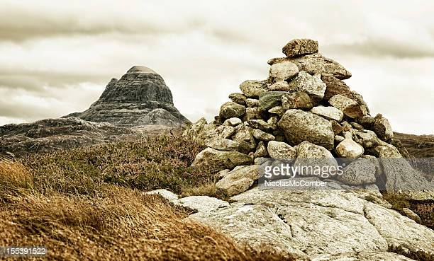 Cairn with Suilven Mountain