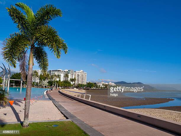 cairns waterfront walkway in northern queensland - cairns stock photos and pictures