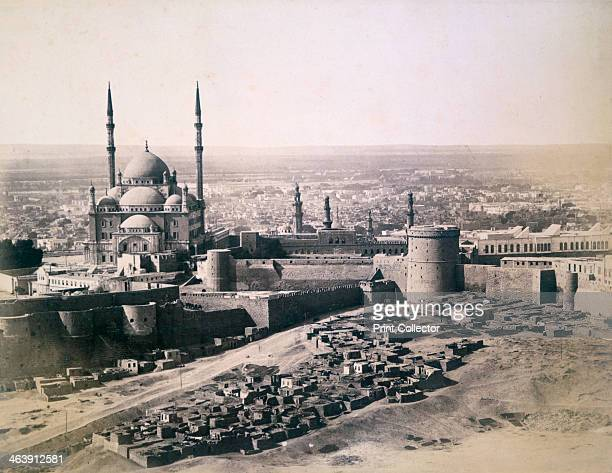 'Cairo' 1878 View showing the citadel and the Mosque of Muhammad Ali built between 1830 and 1848 Found in the collection of the Victoria and Albert...