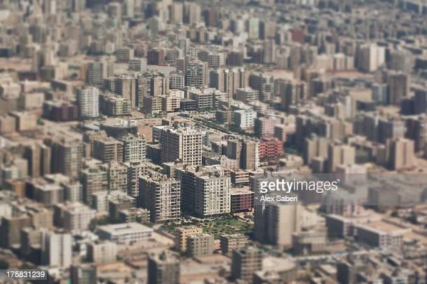cairo buildings from an airplane. - alex saberi bildbanksfoton och bilder