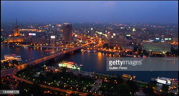 Cairo center at night