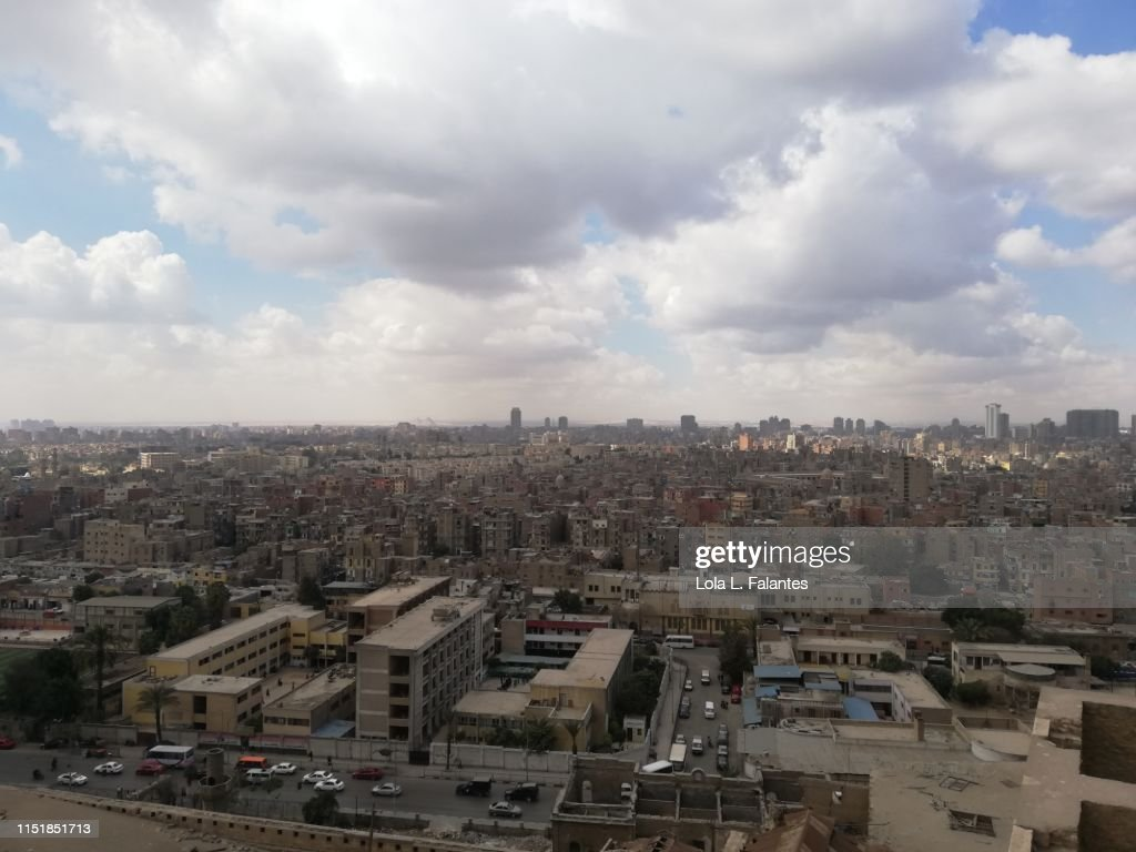 Cairo city view from a rooftop : Foto de stock