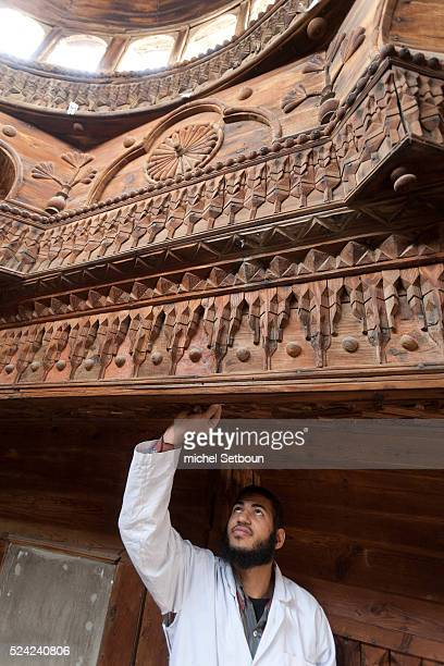 THE WAKF HOUSE OF as SADAT under renovation by Historic Cairo in sayeda Zeynab area Islamic Cairo NM129 Photos by Michel Setboun / Corbis