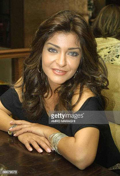 Egyptian Actress Ola Ghanem poses on the first day of shooting of the new comedy film 'Abdo Mawassem' in Cairo late 24 January 2006 The film is...
