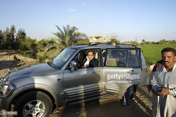 Egyptian comedian Adel Imam is seen at a farm in Shabramant City 20 kms south of Giza as he scouts for locations for his new movie 25 March 2006...