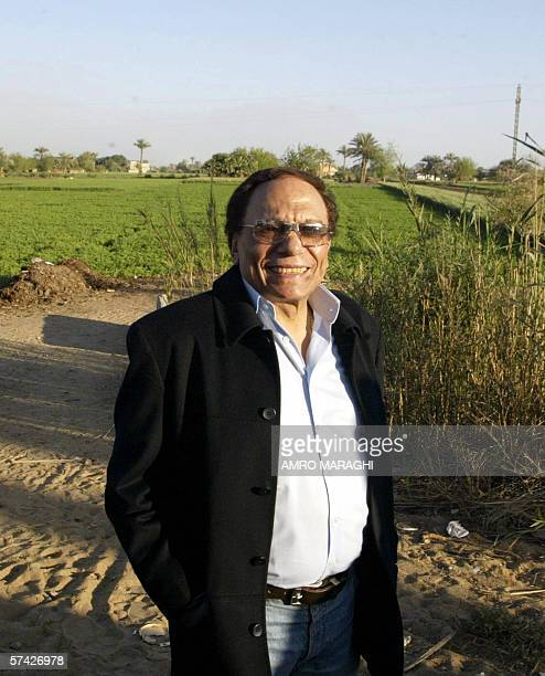 Egyptian comedian Adel Imam poses for a picture at a farm in Shabramant City 20 kms south of Giza as he scouts for locations for his new movie 25...