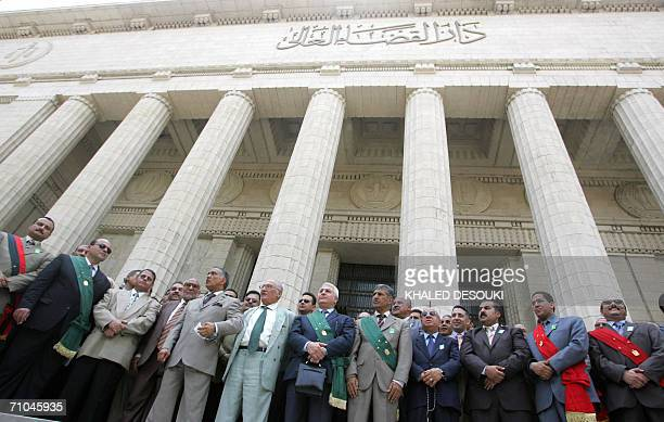 Egyptian reformist judges demonstrate in front the Court House in Cairo 25 May 2006 calling for independence from the executive Protesters rallied in...