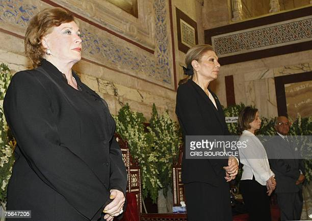 Farah Diba widow of Mohammad Reza Pahlavi the last Shah of Iran and Jihan AlSadat widow of the assassinated former Egyptian president Anwar AlSadat...