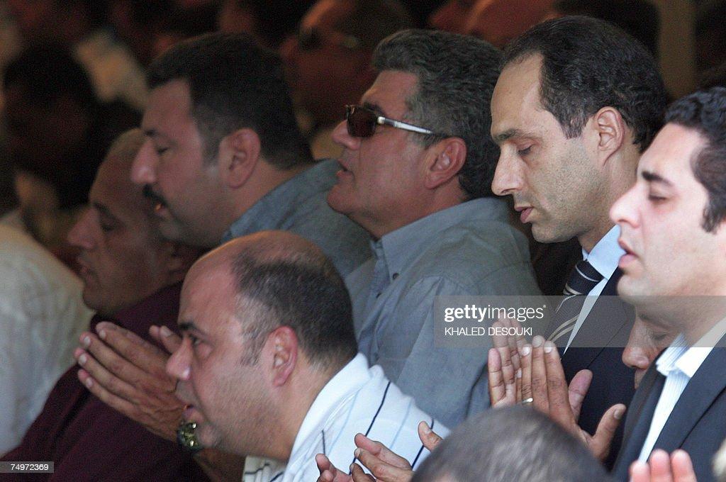 Gamal Mubarak (2nd R), son of Egyptian P... : News Photo