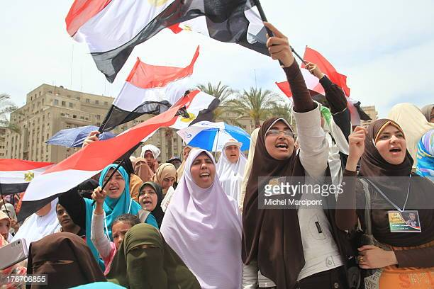 CONTENT] Cairo Egypt Hunders of thousands of Islamist protesters from Muslim Brotherhood and Salafist party have congreted in Tahrir square on Friday...