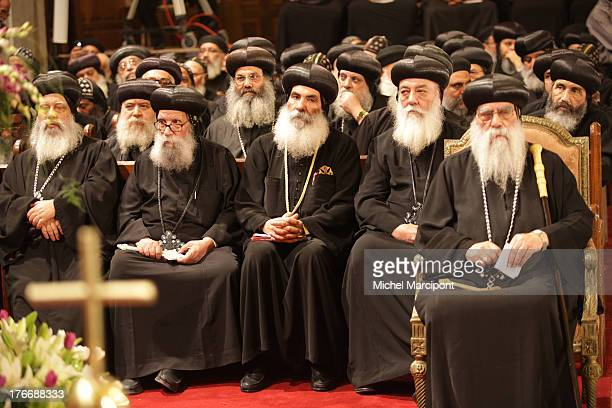 CONTENT] Cairo Egypt Memorial service marking 40 days since death of popular Pope Shenouda III took place at Abbassiya Cathedral