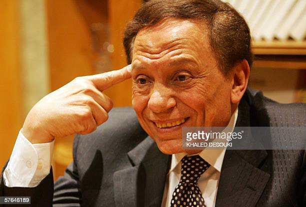 TO GO WITH AFP STORY BY RIYAD ABU AWWAD Veteran Egyptian comedian and United Nations goodwill ambassador for the Middle East and North Africa Adel...