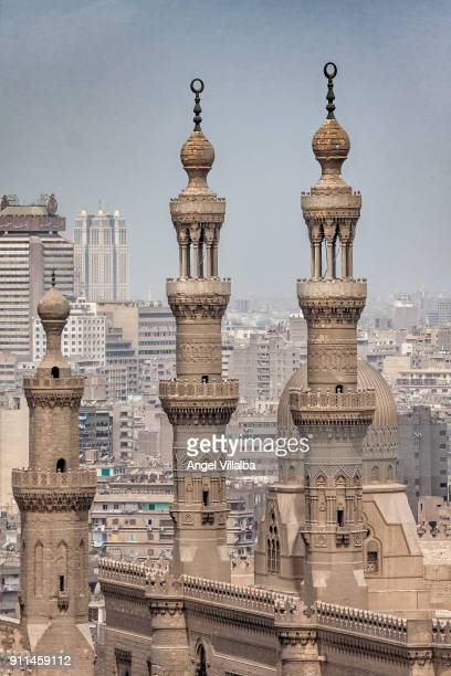 Cairo. Madrassa of Sultan Hassan & The Mosque of Al Rifai. Minarets