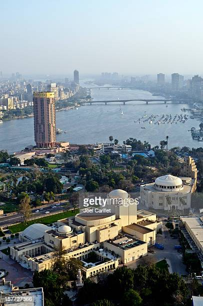 cairo opera house viewed from the cairo tower - opera stock pictures, royalty-free photos & images