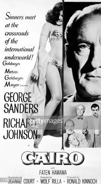 Faten Hamama George Sanders inset from left Eric Pohlmann Walter Rilla Richard Johnson 1963