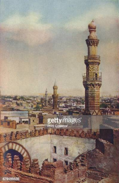 Cairo. Seen from a height the city appears a vast expanse of yellow and white houses, their flat roofs punctuated by minarets', c1920. Cairo is the...