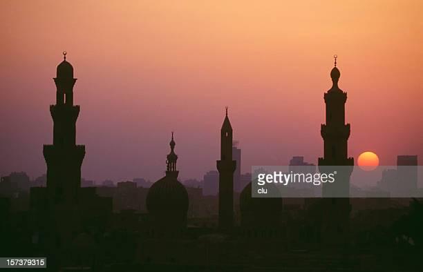 sonnenuntergang in kairo - kairo stock-fotos und bilder