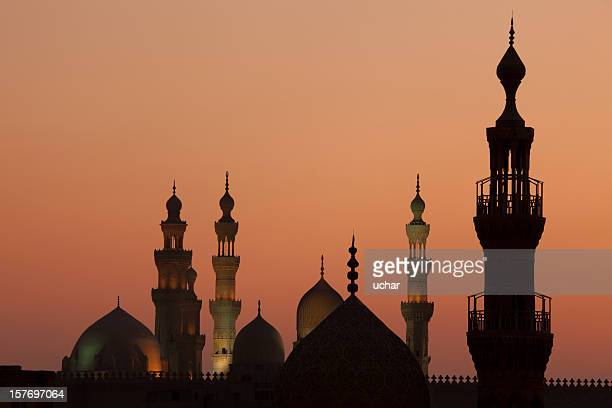 cairo sunset with towers - cairo stock pictures, royalty-free photos & images
