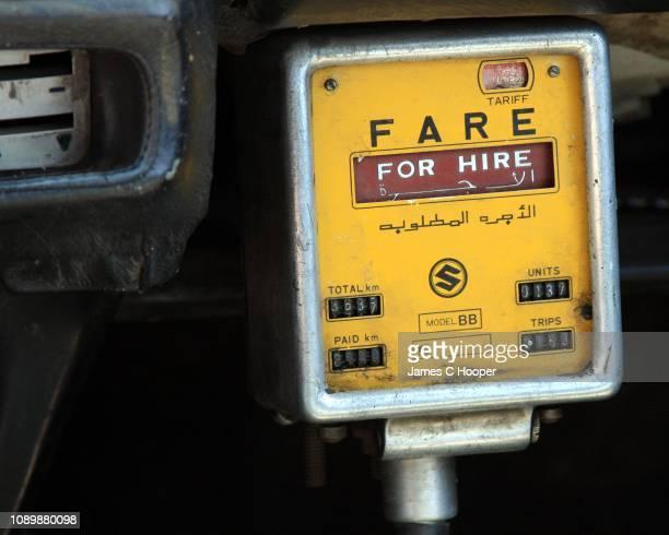 cairo taxi meter - kairo stock-fotos und bilder