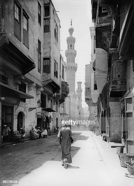 Cairo The street BabelWezir on 1912